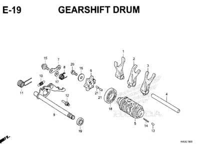 E-19-Gearshift-Drum-New-CBR-150R-K45N