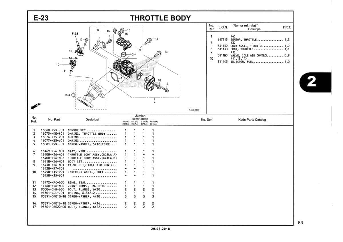 E-23-Throttle-Body-Katalig-New-CBR-150R-K45N
