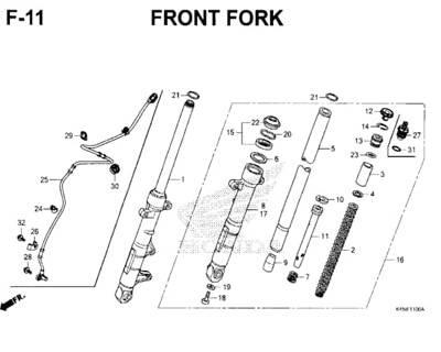 F-11-Front-Fork-New-CBR-150R-K45N