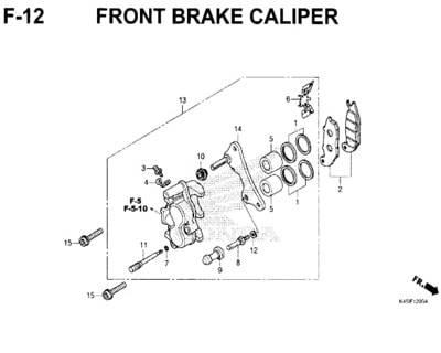 F12 – Front Brake Caliper – Katalog Honda New CBR 150R K45N