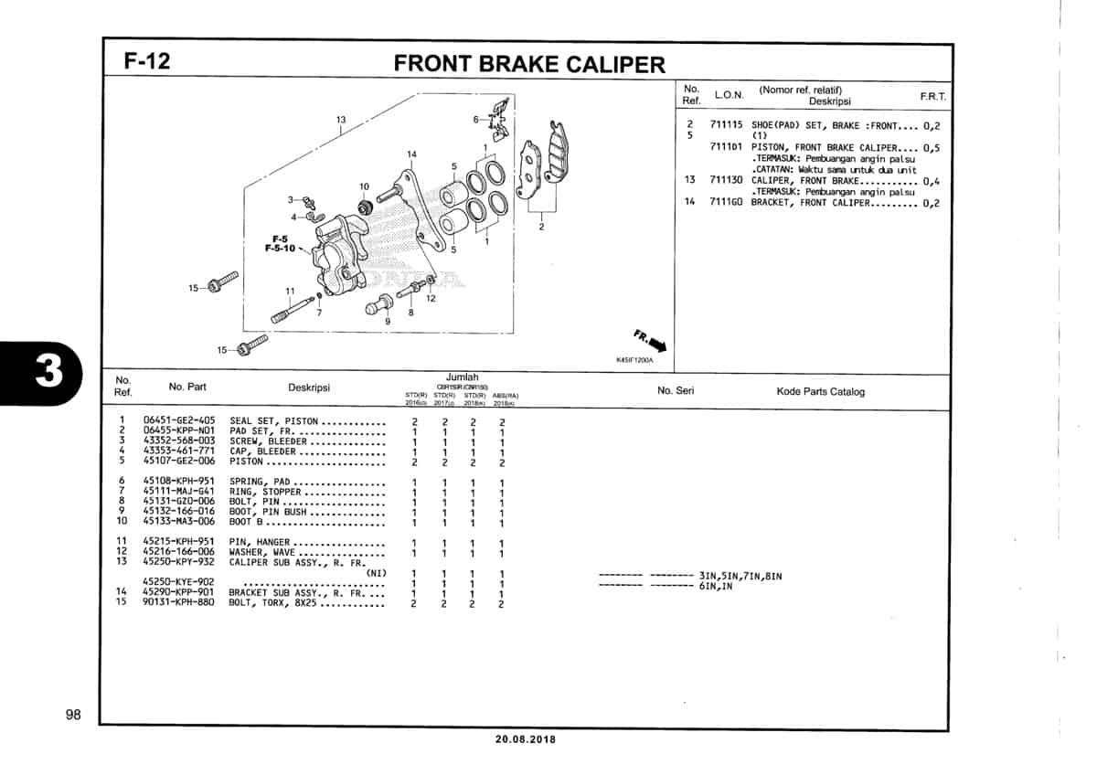 F-12-Front-Brake-Caliper-Katalog-New-CBR-150R-K45N