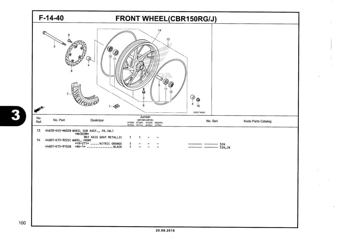 F-14-40-Front-Wheel-(CBR150RG-J)-Katalog-New-CBR-150R-K45N