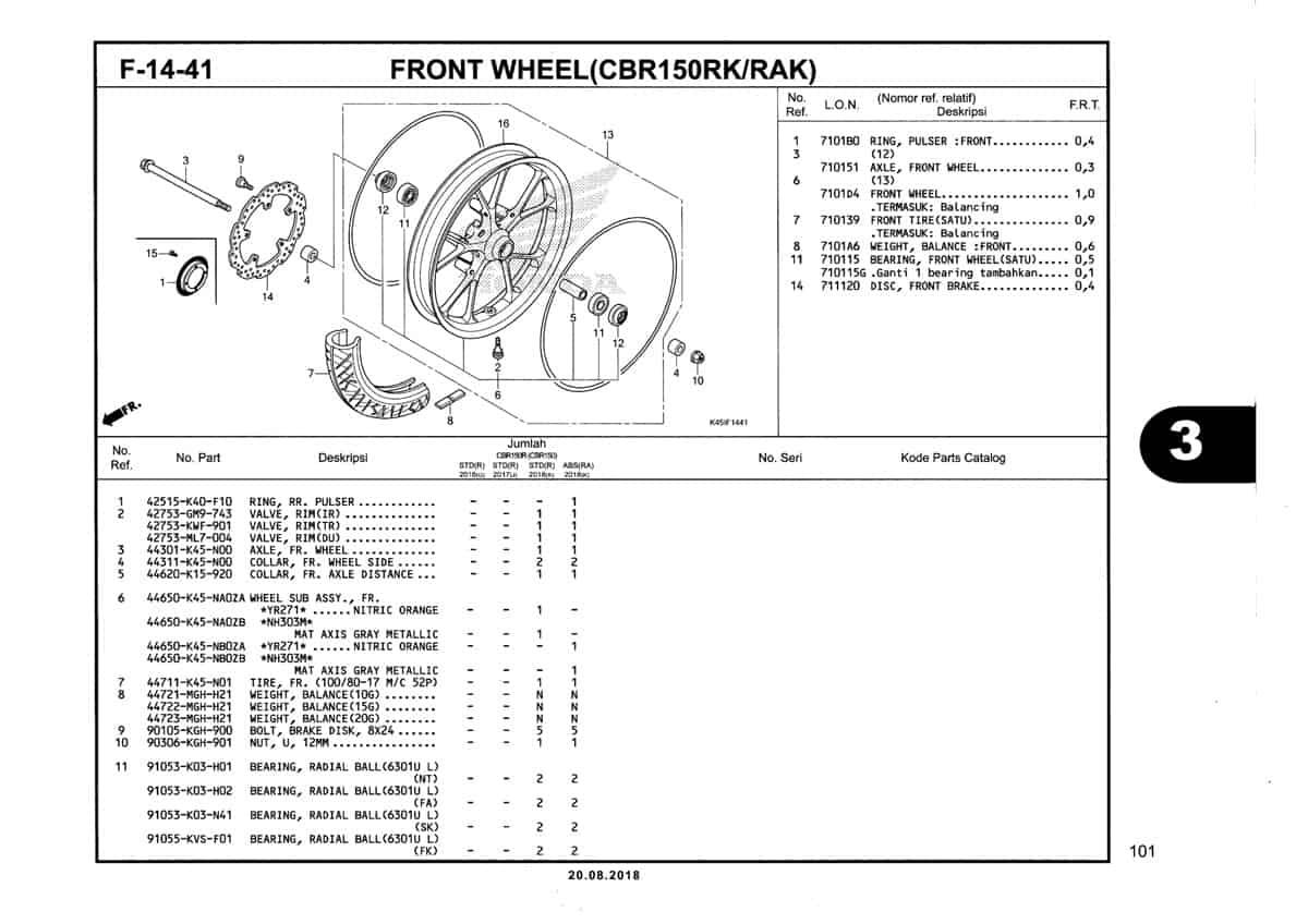 F-14-41-Front-Wheel-(CBR150RK-RAK)-Katalog-New-CBR-150R-K45N