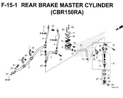 F-15-1-Rear-Brake-Master-Cylinder-(CBR150RA)-New-CBR-150R-K45N