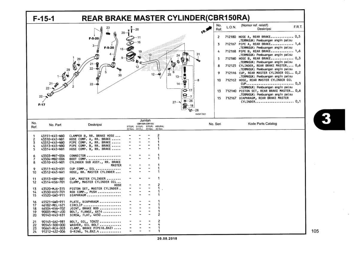 F-15-1-Rear-Brake-Master-Cylinder-(CBR150RA)-Katalog-New-CBR-150R-K45N