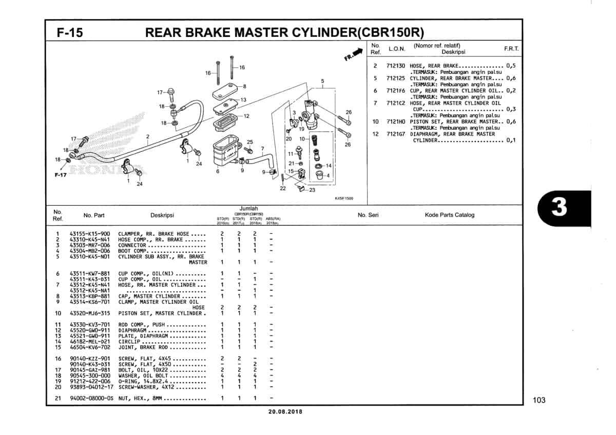F-15-Rear-Brake-Master-Cylinder-(CBR150R)-Katalog-New-CBR-150R-K45N