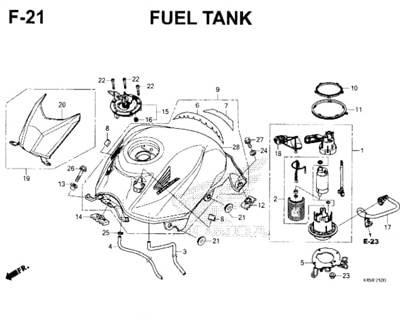 F21 – Fuel Tank – Katalog Honda New CBR 150R K45N