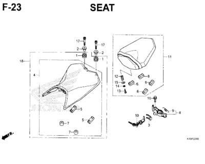 F-23-Seat-New-CBR-150R-K45N