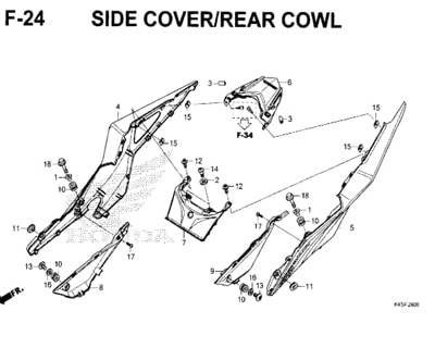 F-24-Side-Cover-Rear-Cowl-New-CBR-150R-K45N