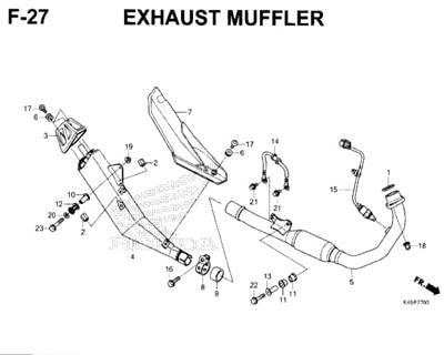 F27 – Exhaust Muffler – Katalog Honda New CBR 150R K45N