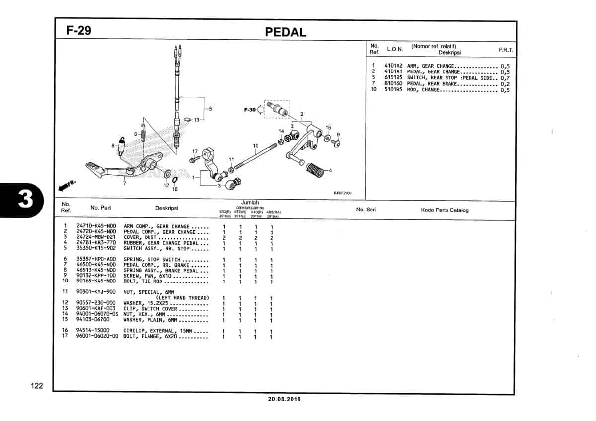 F-29-Pedal-Katalog-New-CBR-150R-K45N