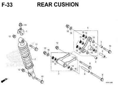 F33 – Rear Cushion – Katalog Honda New CBR 150R K45N