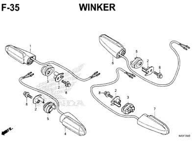 F35 – Winker – Katalog Honda New CBR 150R K45N