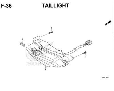 F36 – Taillight – Katalog Honda New CBR 150R K45N