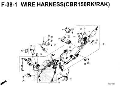F-38-1-Wire-Harness-(CBR150RK-RAK)-New-CBR-150R-K45N