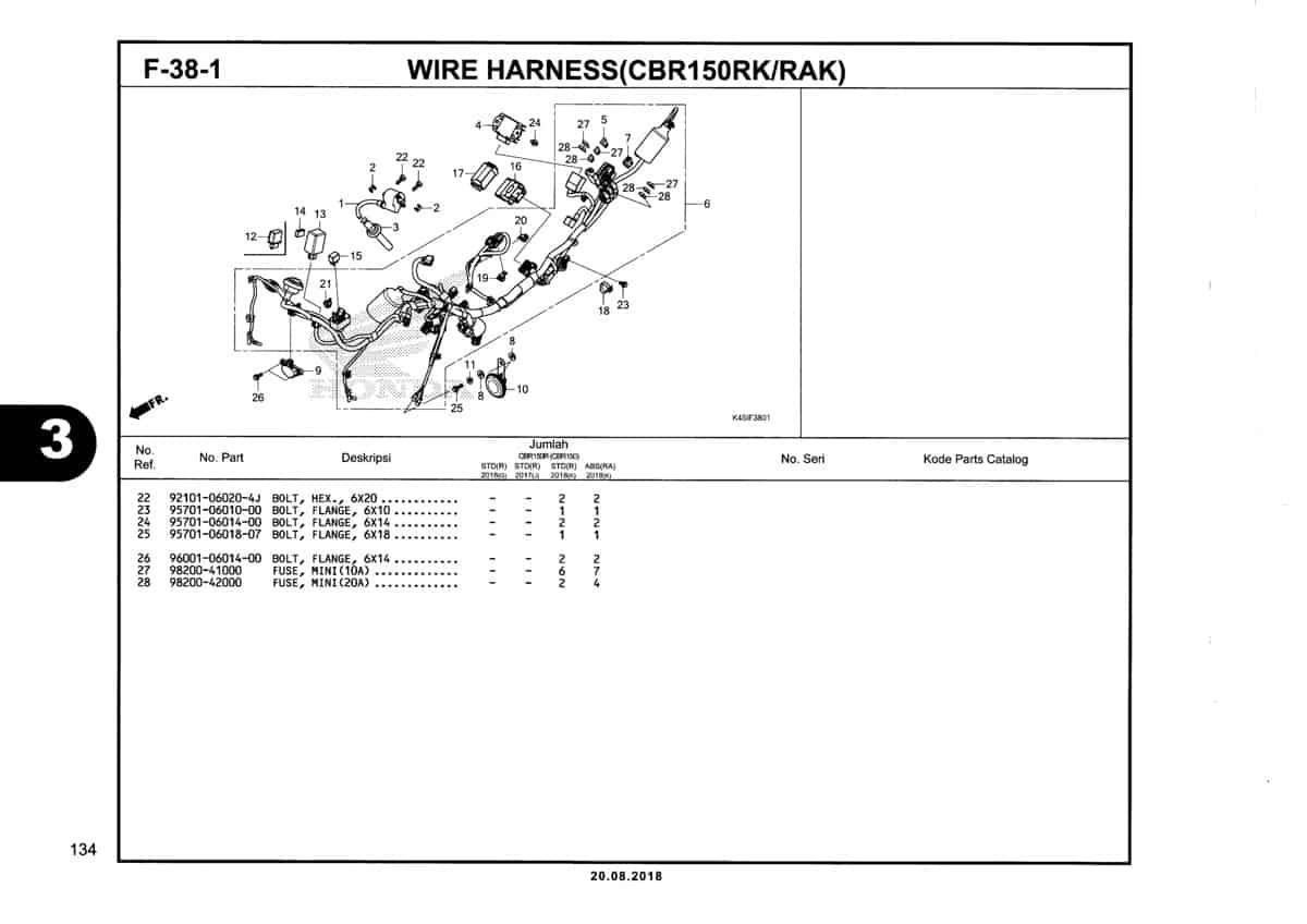 F-38-1-Wire-Harness-(CBR150RK-RAK)-Katalog-New-CBR-150R-K45N
