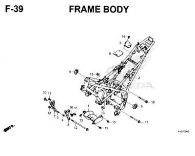 F39 – Frame Body – Katalog Honda New CBR 150R K45N