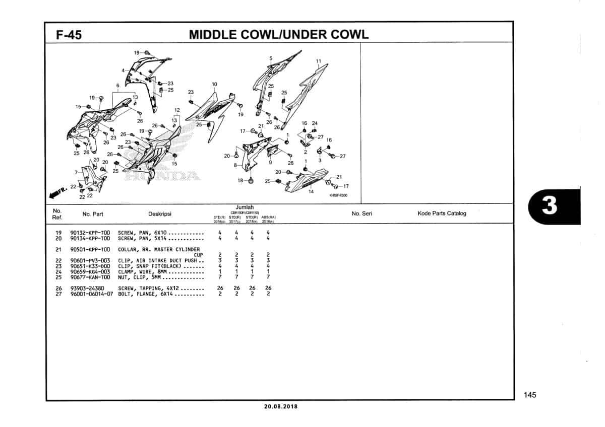 F-45-Middle-Cowl-Under-Cowl-Katalog-New-CBR-150R-K45N