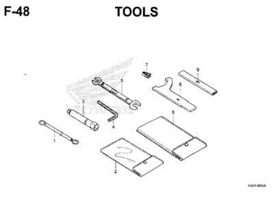 F48 – Tools – Katalog Honda New CBR 150R K45N