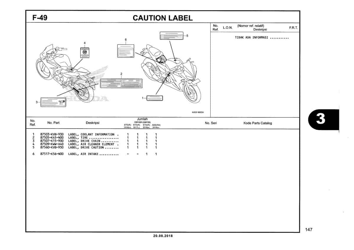 F-49-Caution-Label-Katalog-New-CBR-150R-K45N