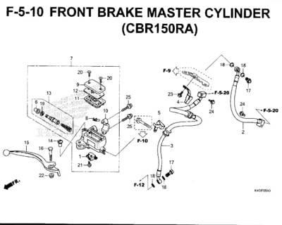 F-5-10-Front-Brake-Master-Cylinder-(CBR150RA)-New-CBR-150R-K45N