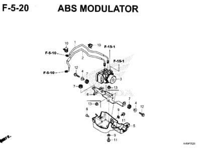 F5-20 – ABS Modulator – Katalog Honda New CBR 150R K45N