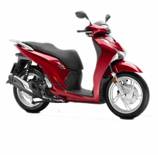Honda SH150i Candy Luster Red
