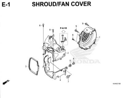 E1 – Shroud/Fan Cover – Katalog Honda New BeAT Street eSP