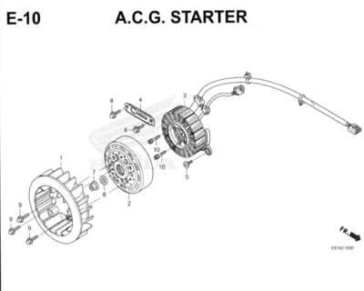 E10 – A.C.G. Starter – Katalog Honda New BeAT Street eSP