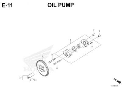 E11 – Oil Pump – Katalog Honda New BeAT Street eSP