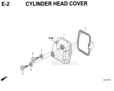 E2 – Cylinder Head Cover – Katalog Honda New BeAT Street eSP