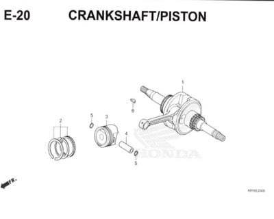 E20 – Crankshaft/Piston – Katalog Honda New BeAT Street eSP