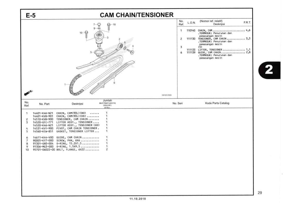 E-5-Cam-Chain-Tensioner-Katalog-Honda-BeAT-Street-eSP