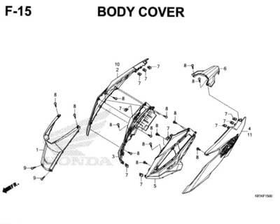 F15 – Body Cover – Katalog Honda New BeAT Street eSP