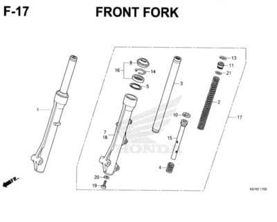 F17 – Front Fork – Katalog Honda New BeAT Street eSP