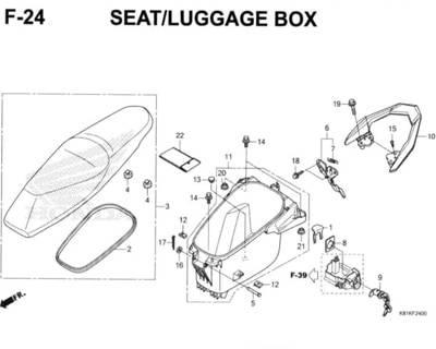 F24 – Seat/Luggage Box – Katalog Honda New BeAT Street eSP