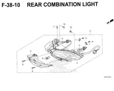 F38-10 – Rear Combination Light – Katalog Honda New BeAT Street eSP