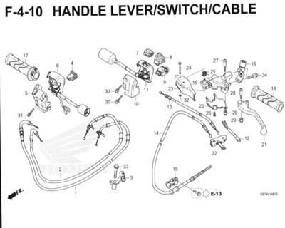 F4-10 – Handle Lever/Switch/Cable – Katalog Honda New BeAT Street eSP