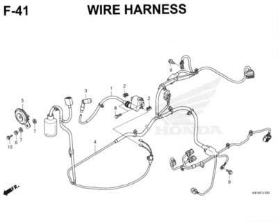 F41 – Wire Harness – Katalog Honda New BeAT Street eSP