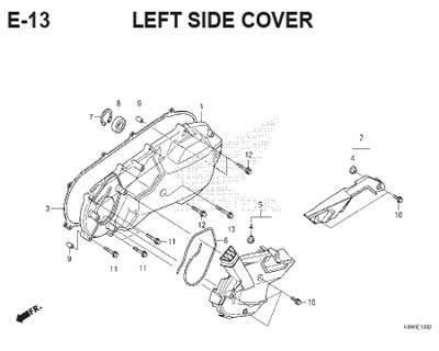 E13- Left Side Cover – Katalog Honda ADV 150