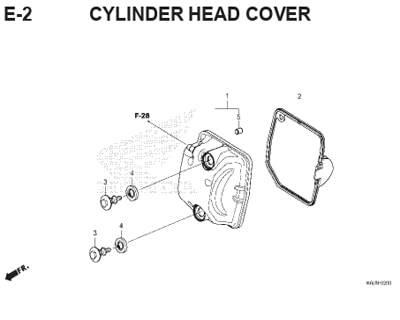 E2 – Cylinder Head Cover – Katalog Honda Genio