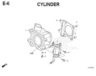 E6 – Cylinder – Katalog Honda ADV 150