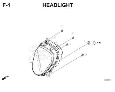 F1 – Headlight – Katalog Honda Genio