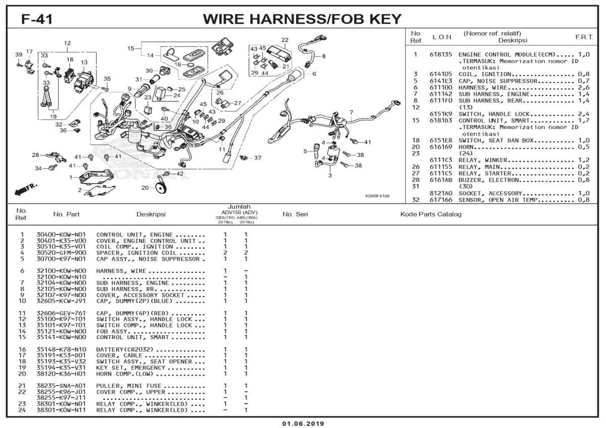 F-41-Wire-Harness-Fob-Key