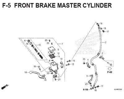 F5 – Front Brake Master Cylinder – Katalog Honda ADV 150