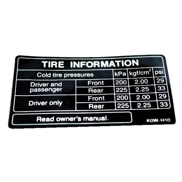 Label,-Tire-87505K0WN00