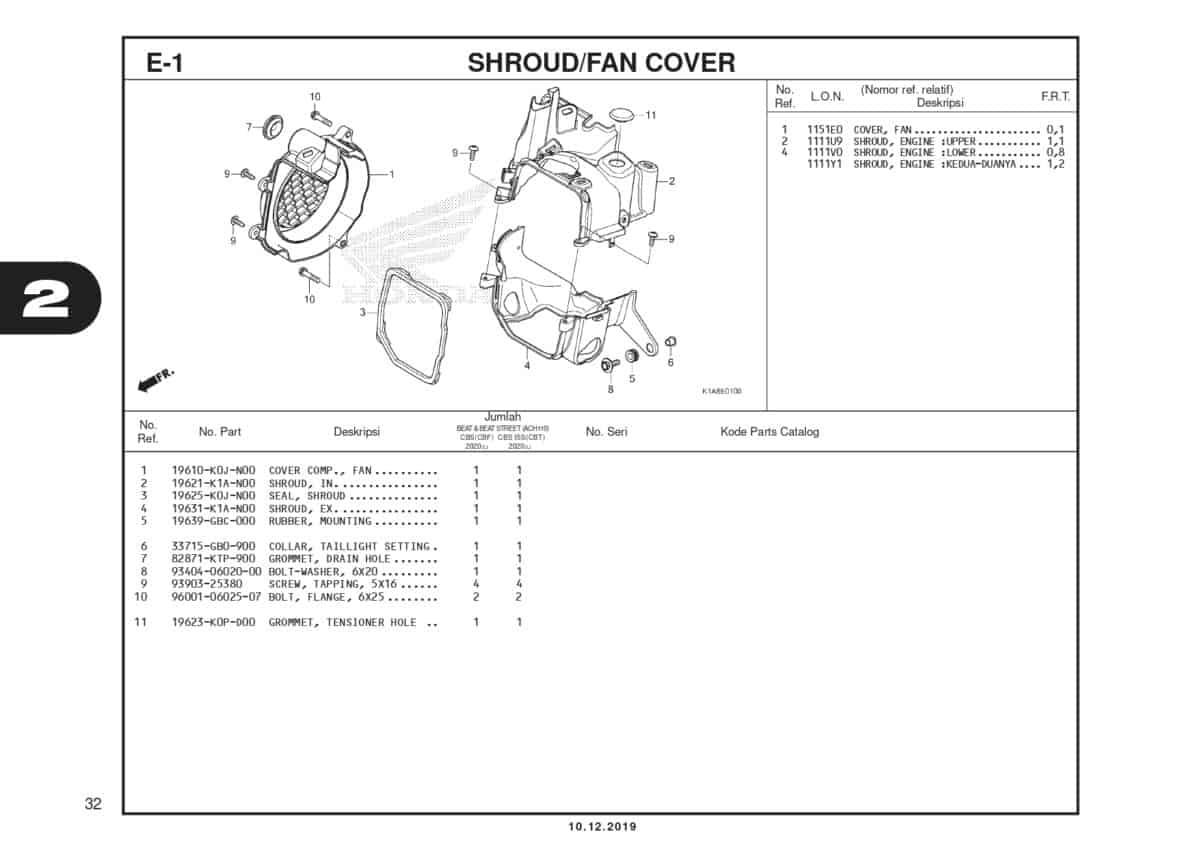 E-1 Shroud Fan Cover