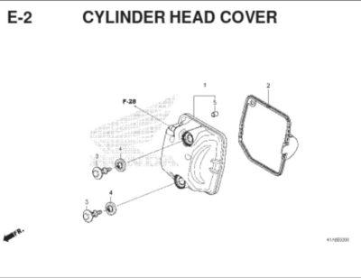 E2 – Cylinder Head Cover – Katalog Honda BeAT K1A