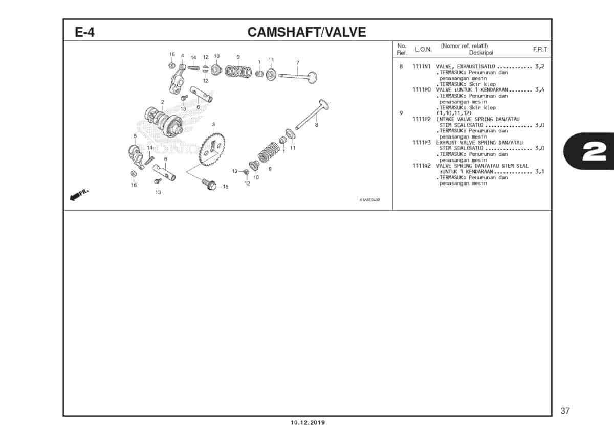 E4 Camsahft Valve