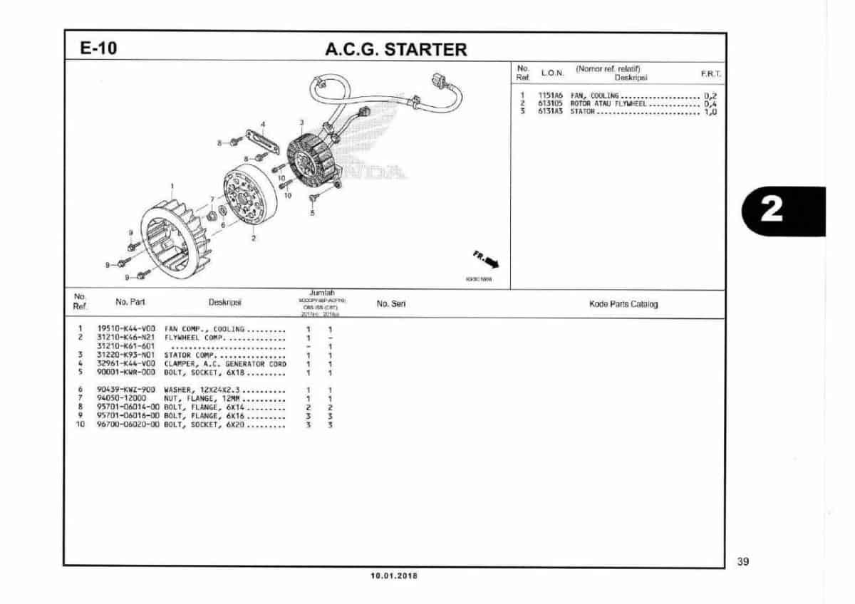 E10-ACG starter